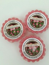 Yankee Candle Tart Set of 3 Salt Mist Rose Wax Potpourri Melts Discontinued - $14.01