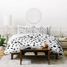 Deny Designs Black & White Miss Monroes Dalmatian Duvet Cover Queen - $80.14