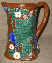 Hand Painted COLORFUL FITZ & FLOYD MAJOLICA POTTERY PITCHER~FEUVILLE DE ... - $30.16