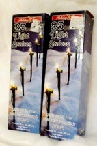 """50 Dual Head YARD LIGHT STAKES Holiday Time 2 BOXES MIB 8"""" - $27.72"""