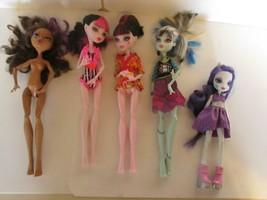 Lot 5 Monster High Dolls  - $24.74