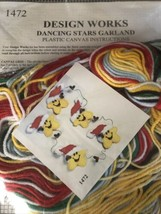 Plastic Canvas Kit ~ Design Works Christmas Laughing Stars Garland #DW1472 - $16.82