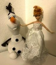 """Disney Frozen Anna 10"""" PVC Doll & TY Olaf Stuffed Plush  - $19.80"""