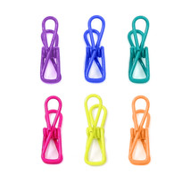 6 Beach Towel Clips Clothespin-Office Home Cruise-PVC-Coated Steel Wire 6 Color - $6.99
