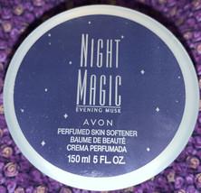 Womens Vintage Avon Night Magic Evening Musk Perfumed Skin Softner Cream Sz 5 oz - $11.23