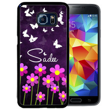 PERSONALIZED CASE FOR SAMSUNG S9 S8 S7 S7 S6 PLUS RUBBER PURPLE FLOWER B... - $13.98