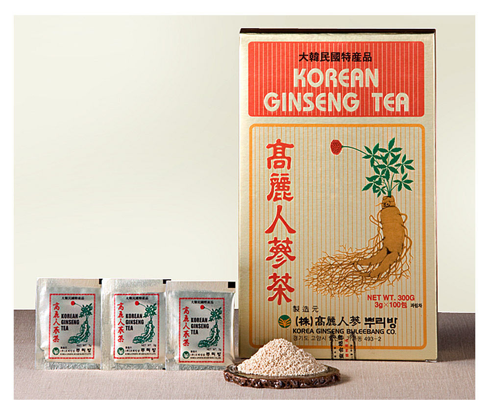 Herb Korean Ginseng Tea 0.10oz(3g)  100 Packets  Reduce Stress  No Caffeine