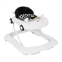 B593-BB5485 - 2-in-1 Foldable Baby Walker with Music Player & Lights-White - $103.41