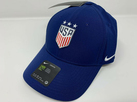 NEW! NIKE Unisex Adult USA Legacy91 DRI-FIT Soccer Cap/Hat-Navy BV6430-493 - $47.40