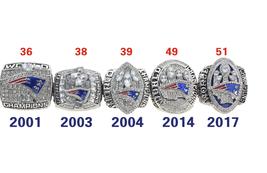 Collection 5+/set Championship Ring Super Bowl LI Patriots 2001-17 Fan Size 7-12 - $78.65