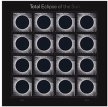 Total Eclipse of the Sun USPS Limited Edition Forever Stamps Full Sheet + Sleeve - $17.50