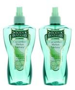 (2 Pack) Cucumber Melon Fantasy by Body Fantasies Fragrance Body Spray w... - $19.96