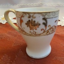 Spoke Hand Painted Nippon Tea Cup Gold on White Made in Japan