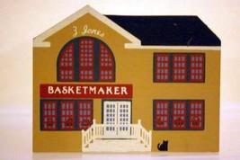 The Cats Meow  Village 1988 Z. Jones Basket Maker Liberty Street Series - $2.76