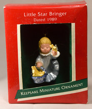 Hallmark: Little Star Bringer - 1989 Miniature - Holiday Ornament - $9.67