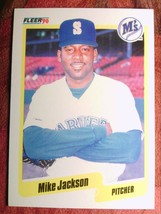 Baseball Fleer 1990 # 517 Mike Jackson Mariners - $0.99