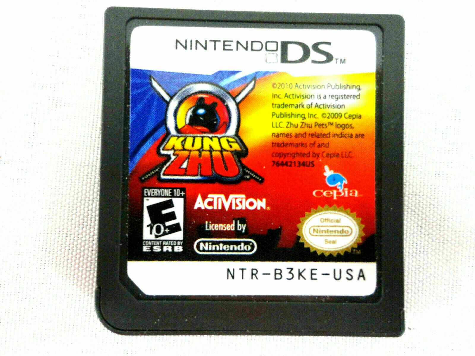 Primary image for New! Kung Zhu 2010 (Nintendo DS) FREE plastic case works w/ 3DS 2DS DSi DS XL
