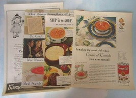Vintage Lot 4 Color & B&W Advertisements CAMPBELLS' SOUP Sat Evening Pos... - $12.00