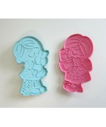 2 Vintage Hallmark Easter Cookie Cutters-Boy with Bunny-Girl with Basket - $12.50