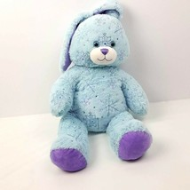 Build A Bear Plush Bunny Light Blue Snowy Sparkles Snowflake Rabbit 2013 - $14.85