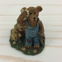 Boyds Town Village Edmund T. Bear Miniature Figure 2000 - $8.59