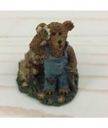 Boyds Town Village Edmund T. Bear Miniature Figure 2000 - $8.59