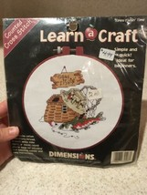 """Fishin' Time Counted Cross Stitch Kit Dimensions Learn a Craft 6"""" New - $6.92"""