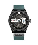 Curren Men's Leather Analog Quartz Wrist Watch 8301 (Blue) - $37.00