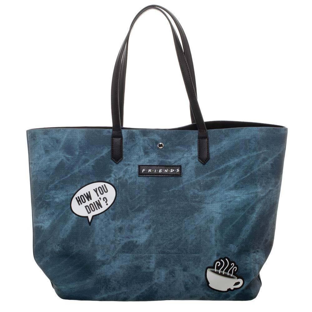 Friends Central Perk Tote Bag Blue