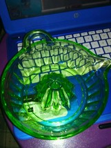 Vintage Uranium glass juicer - $40.59