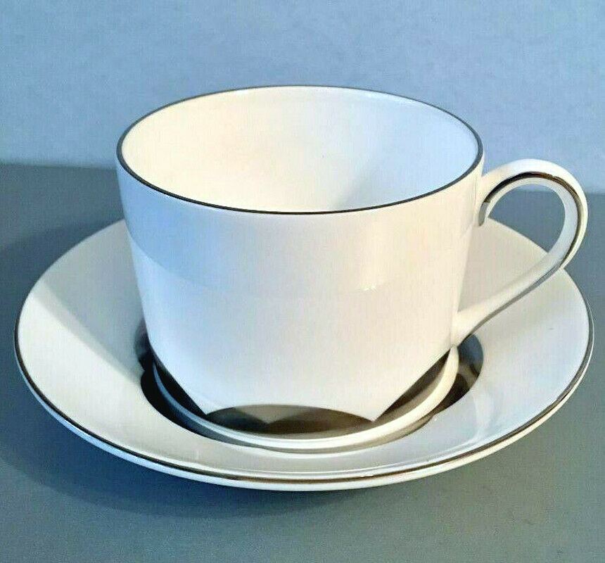 Primary image for Vera Wang Wedgwood Vera Lotus Tea Cup & Saucer Made in U.K. 1st Quality New