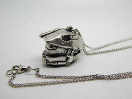 HALO helmet necklace Master Chief Halo 3 4 5 video game chain pendant gi... - $59.30