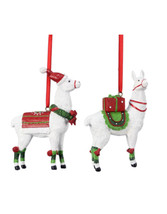 Youngs Christmas Decor - Resin Llama Ornaments 2pc - $15.79