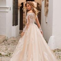 Long Sleeve Fully Lace Applique Mermaid Wedding Dress image 2