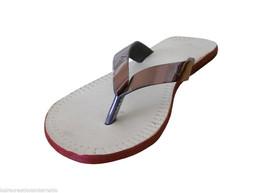 Women Slippers Traditional Indian Handmade Leather Flip-Flops Jutties US 5.5-9.5 - $24.99