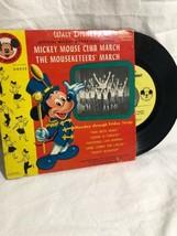 Walt Disneys Mickey Mouse Club March 45 Album Record DBR50 1955 - $26.73