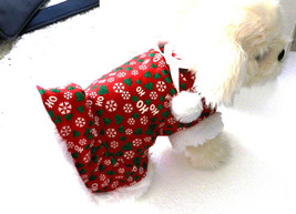 XSmall Puppy Dog Glitter Christmas Party Dress with Faux Fur - $19.99