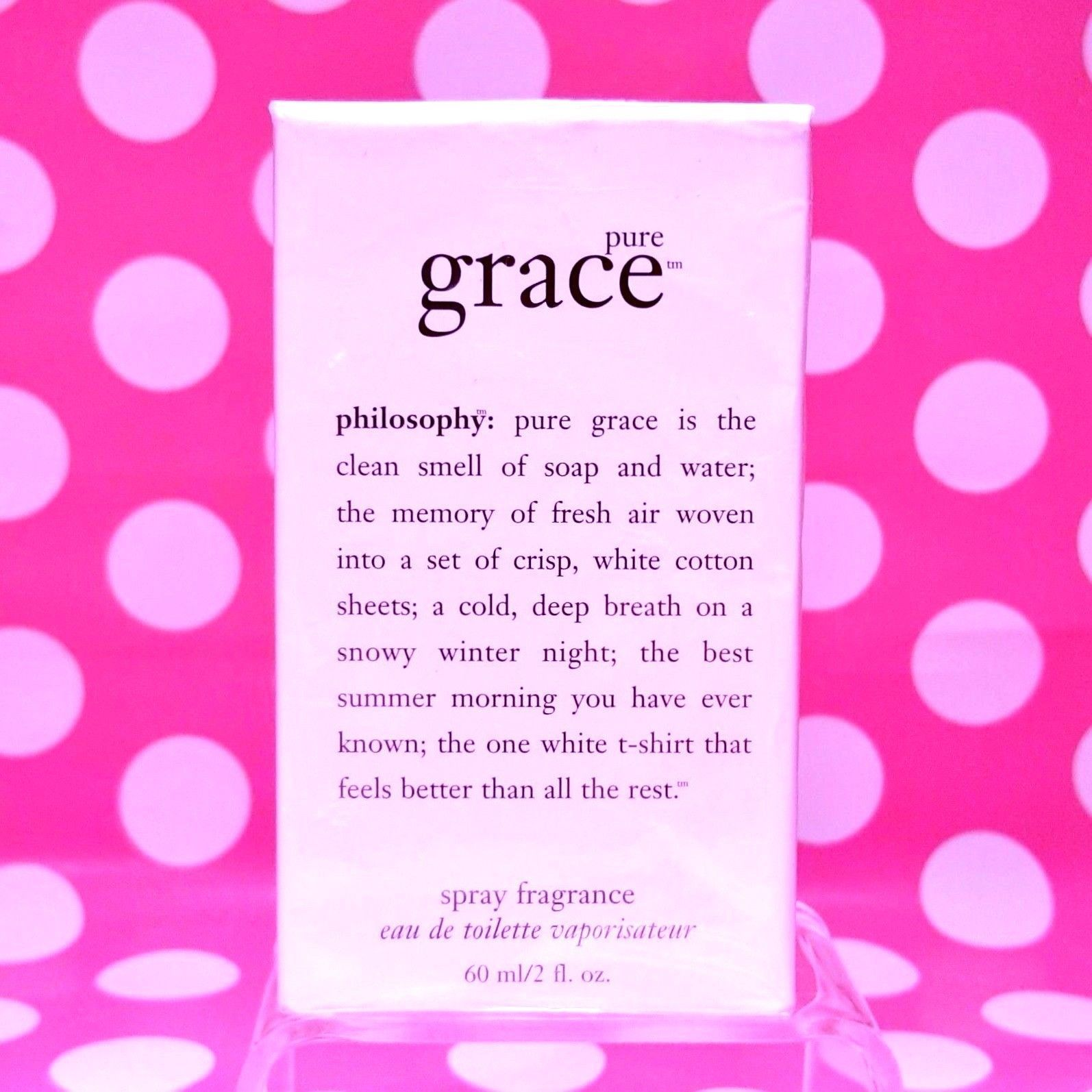 Primary image for PHILOSOPHY PURE GRACE EAU DE TOILETTE SPRAY 2 OZ  NEW-  SEALED IN BOX
