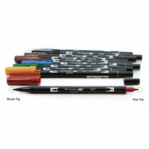 Tombow ABT Dual Brush Pens (Brush Tip + 0.8mm Fine Tip) 10-Color Set, Muted, ABT - $33.99