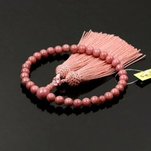 Buddhist Rosary Mala Juzu Prayer beads Japan Kyoto Rhodonite Rose color - $162.70