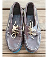 Sperry Size 9.5 Top Sider Authentic Original 2-Eye Boat Shoes w/ Blue Bo... - $32.29