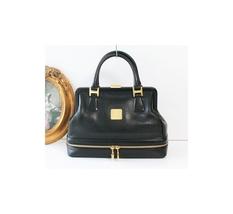 Auth vintage MCM Black Leather Doctor Bag - $420.00