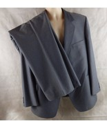 Vintage American Craftsman 3 Piece Suit 40R Pants 44 X 30 Bluish Gray - $19.75