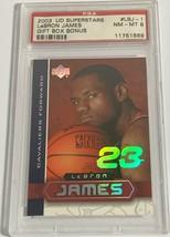2003 Upper Deck Superstars Le Bron James Gift Box Bonus #LBJ-1 Psa 8 NM-MINT (Dr) - $98.99
