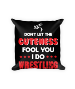 Wrestling pillow Gift - Square Pillow Case w/ stuffing - $23.00