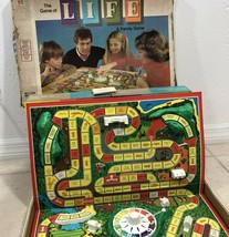 VTG 77 Game of Life Board Game Spinner Tokens Building Money Ephemera Cards - $29.58