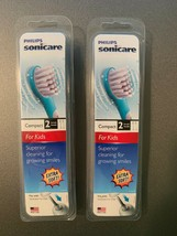 NEW Lot of 2 Philips Sonicare Kids Replacement Toothbrush Heads 2 Pk Eac... - $27.95