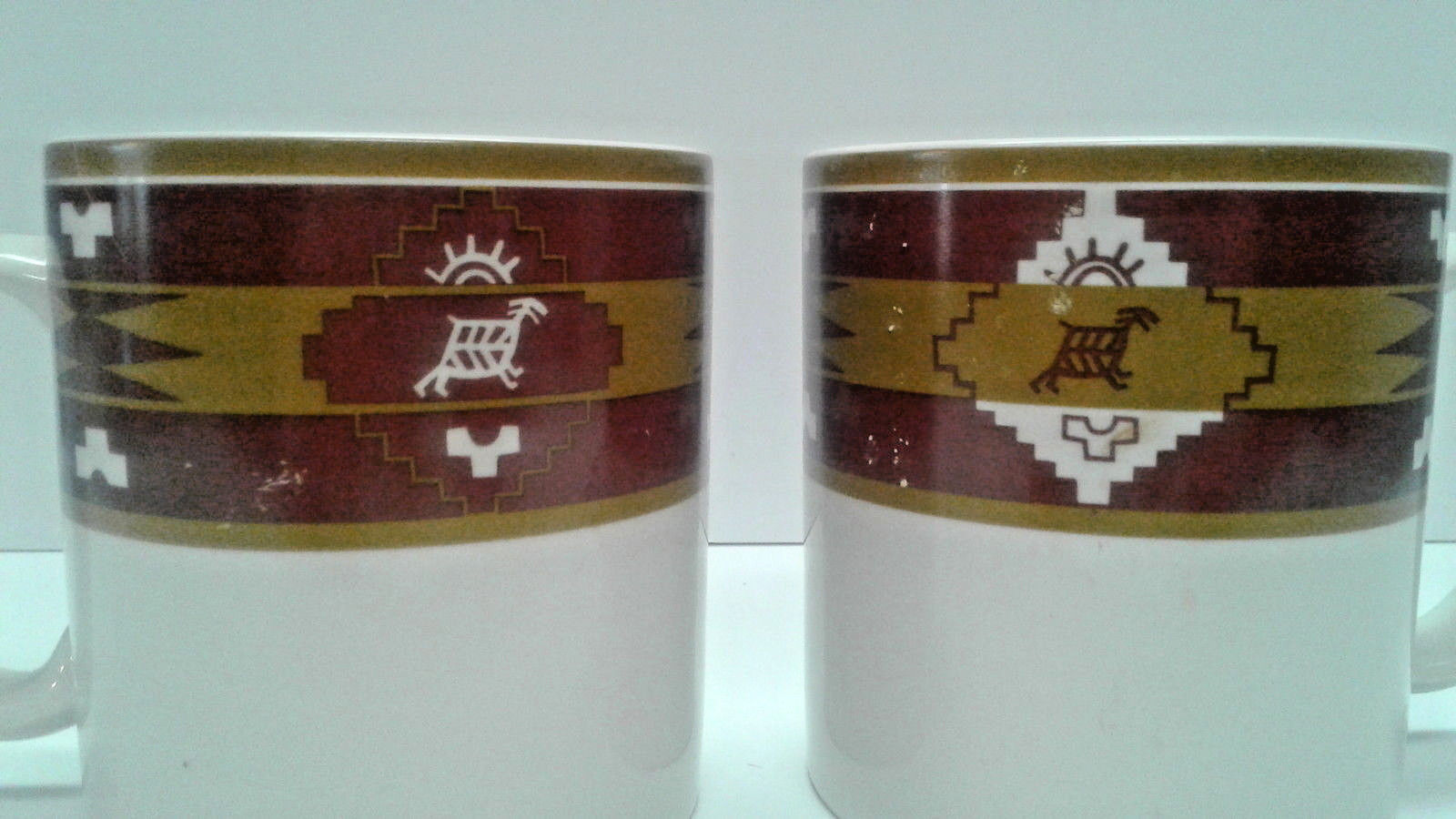Pendleton Blanket print Coffee Mugs Set of 2 cups