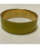 J Crew Yellow  And Gold enamel Wide Bangle Bracelet - $20.57