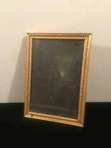 "Vintage 40s gold ornate 5"" x 7"" frame with red under front gold design"